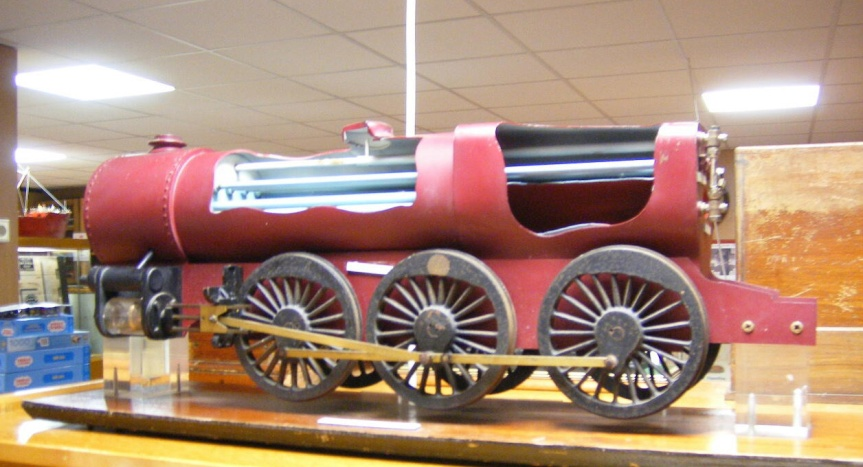 849 Sectioned Model in museum