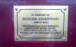 Roger Shenton's plaque