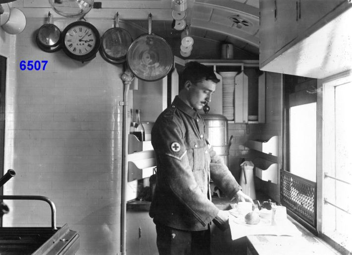 Great Eastern Railway Ambulance Train - Kitchen - Aug 1914