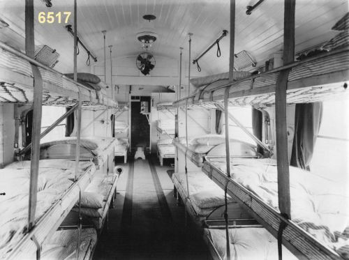 Ward Car  for infectious cases.  Ambulance Train No.20, Great Eastern Railway, Stratford, September 1915