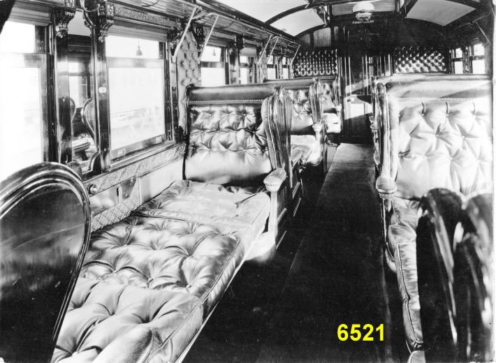 Staff Car arranged for sleeping.  Great Eastern Railway Ambulance Train, Aug 1914