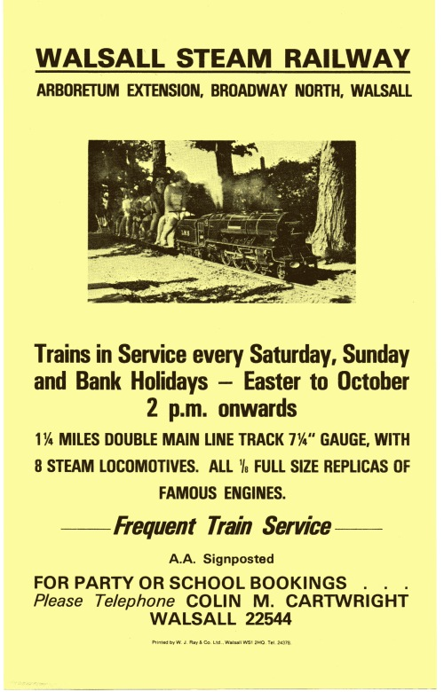 Walsall Steam Railway Flyer