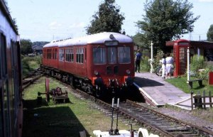 Autumn 1992. Brownhills West Station with a DMU waiting