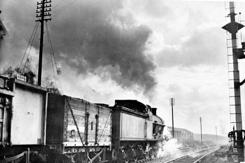 Coal train leaving W Cannock RPS