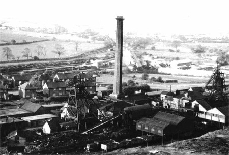 East Cannock Colliery from the pit mound.