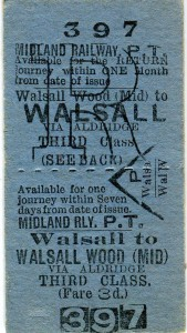 Walsall to Walsall Wood ticket