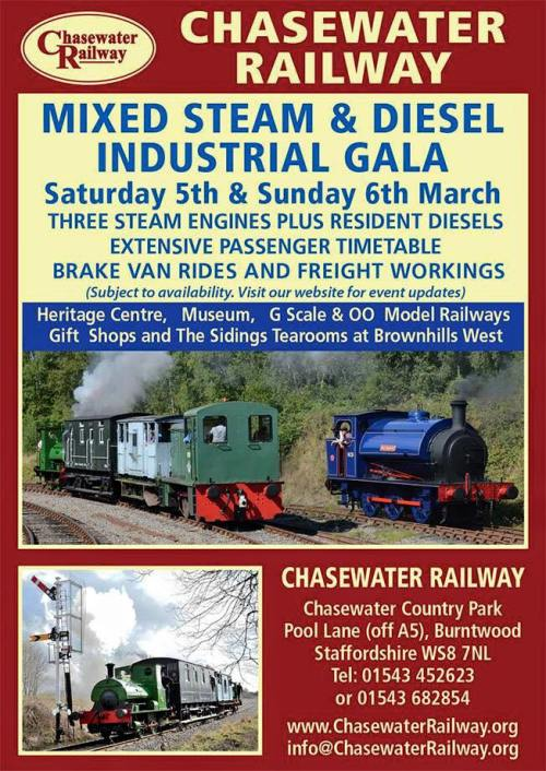 Chasewater Railway Gala March 5th & 6th
