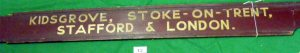 12Finger board LMS Kidsgrove, Stoke-on-Trent, Stafford, London LMS R1.S3