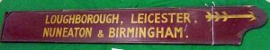 17Finger board BR Loughborough, Leicester, Nuneaton & Birmingham BR R1.S3