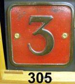 305 Loco Number Plate No.3 Ex CRC 'Progress' C1
