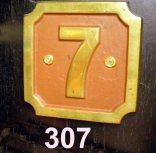 307 Loco Number Plate No.7 Ex CRC 'Birch' C1