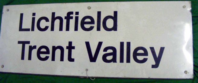 49 Station name sign BR Lichfield Trent Valley R4.S1