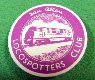 "11005 Badge Locospotters' Club Badge Circular 1.3"" dia. Purple C17"