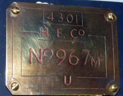 1240 Works plate HE Brass Plate 4301 C11