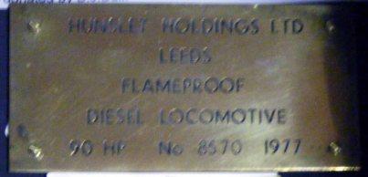 1241 Works plate HE Flameproof Diesel Loco C11