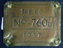 1242 Works plate HE No.760 U 1937 C11