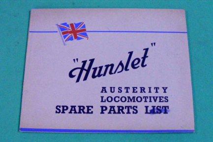 1720 List Hunslet spare parts list Ex CCCC C9