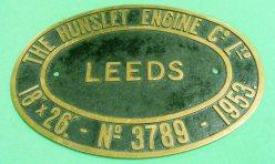 1900 Locomotive Worksplate 3789-1953 No.3 originally NCB HE C1