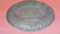 310 Works plate Hunslett 1685/1931 'Nuttall' C1