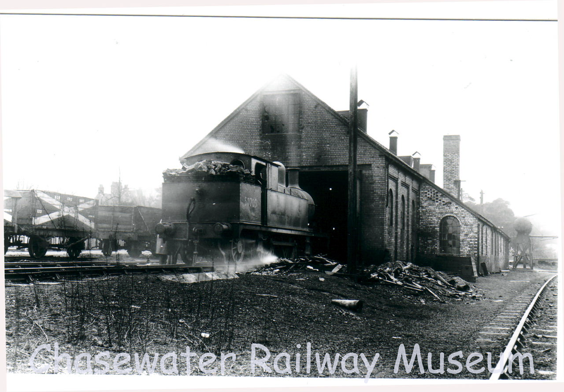 How To Move A Shed >> Chasewater Railway Museum Catalogue – Album 1, Local Colliery Locos | Chasewater Railway Museum